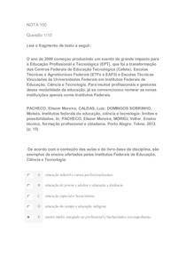 Apol Fundamentos Históricos da Educação e Sistemas de ensino NOTA 100
