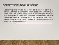 COMPETÊNCIAS DOS MUNICÍPIOS POLÍTICA URBANA