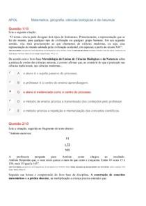 APOL   UTA METODOLOGIAS EXATAS E GEOGRAFIA (Nota 100)