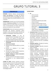 TUTORIA 3 UNIDADE 13 - Fibromialgia, Síndrome Dolorosa Miofascial e Síndrome da dor regional Complexa (SDRC)