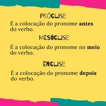 Próclise, Mesóclise e Ênclise