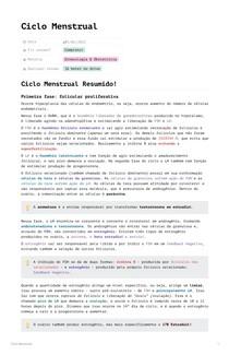Ciclo Menstrual por RCalvano