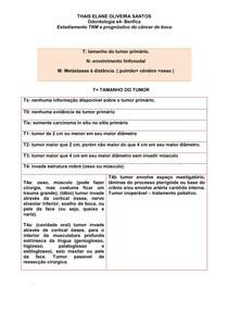 Estadiamento TNM e prognóstico do câncer de boca.