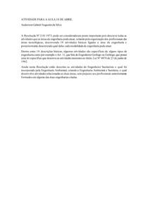 ATIVIDADE PARA A AULA 18 DE ABRIL Resolução Nº 218