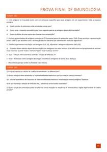 Questões de Imunologia