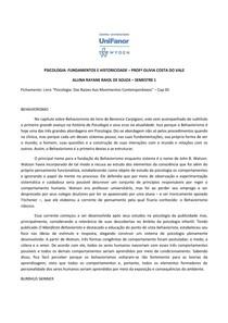 BEHAVIORISMO EM HISTÓRIA DA PSICOLOGIA