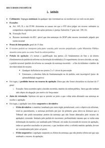 RESUMO RECURSOS EM ESPECIE - PROCESSO CIVIL