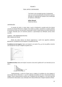 Resumo 3 - Limites, limites laterais e limites infinitos