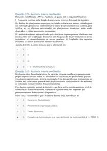 APOL - AUDITORIA INTERNA DE GESTÃO