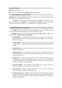 Psicologia da Percepcao   Revisao para Av1   Aula 01 a Aula 07 grupo