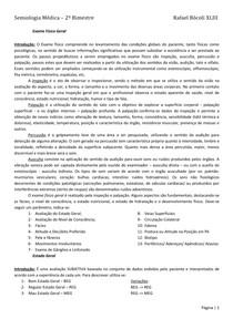 Semiologia - 2º bimestre