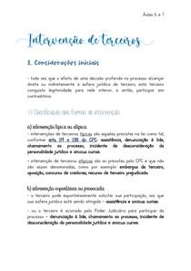INTERVENÇÃO DE TERCEIROS - Processo Civil