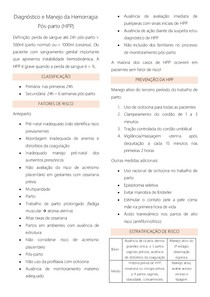 AULA 20 HEMORRAGIA PÓS PARTO