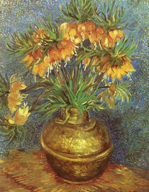 Vincent Willem van Gogh - Fritillaries em cobre Vase