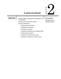 Aula 02 - A célula em divisão