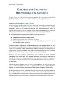 Condutas nas Síndromes Hipertensivas na Gestação