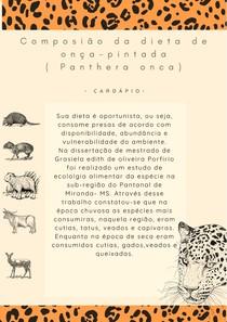 Onça-pintada (Panthera onca) - Dieta