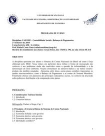 Programa EAE0305 - Contabilidade Socia