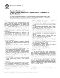 ASTM C1012-04 Standard Test Method for Length Change of Hydrau