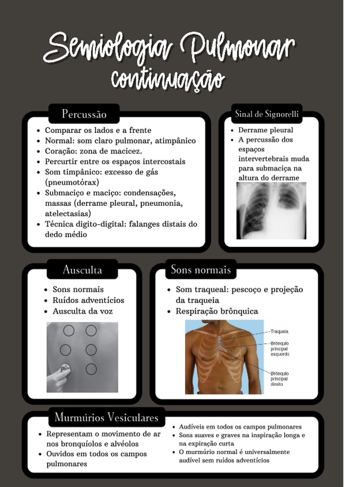 Pre-visualização do material Semiologia Pulmonar II - página 1