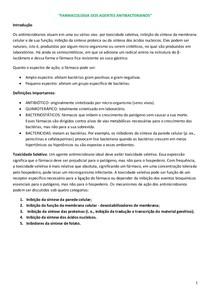 FARMACOLOGIA DOS AGENTES ANTIBACTERIANOS