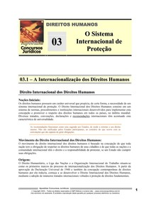 HUM 03 - O Sistema Internacional de Proteção