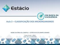 Aula 2   CLASSIFICAÇÃO DOS MICRORGANISMOS