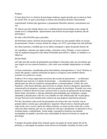 FPCEUP - Epistemologia e História da Psicologia
