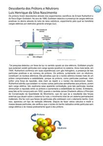 Descoberta dos Prótons e Nêutrons