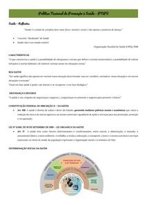 Aula 08 - Política Nacional de Promoção à Saúde - PNPS