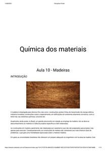 Aula 10 Quimica dos materiais