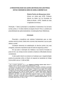 Roberto Paulino - Prescritibilidade ações declaratórias