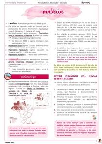 MALÁRIA - epidemiologia e quadro clínico