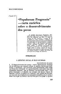 Progresso das Nações - Paulo VI