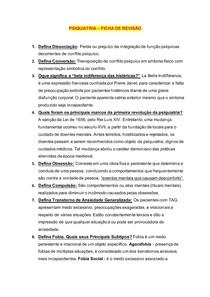 PSIQUIATRIA FICHA DE REVISÃO