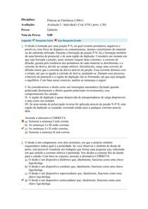 Avaliação I - Práticas de Eletrônica (19061)