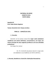 MATERIAL DE APOIO - DIREITO CIVIL  - PARTE GERAL - Apostila 2