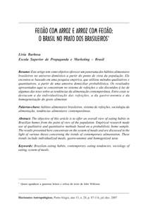 Artigo Barbosa Feijão com arroz