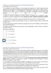 APOL SISTEMAS DE ENSINO E POLÍTICAS EDUCACIONAIS
