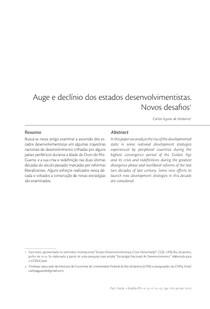 Auge e declínio dos estados desenvolvimentistas