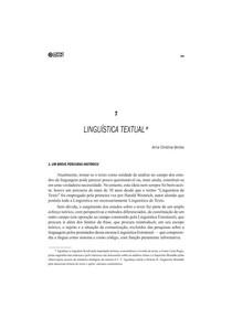 Linguística Textual - MUSSALIM • BENTES