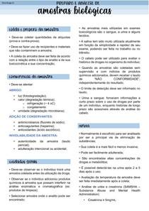 PREPARO DE AMOSTRAS BIOLÓGICAS
