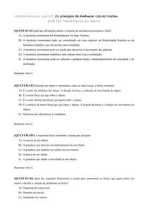 Lista UA 5_Os princípios da dinâmica Leis de Newton
