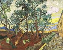 Vincent Willem van Gogh-The-Jardim-de-Saint-Paul-Hospital-Blue