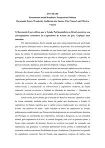 Atividade - FAORO; SANTOS; LEAL; VIANNA