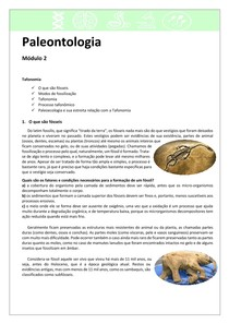 Paleontologia 2 - Tafonomia e Fósseis