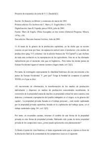 Proyecto de Respuesta a la Carta, Vera Zaluschi