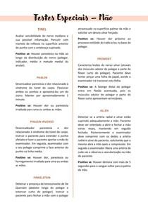 Testes Especiais | Mão