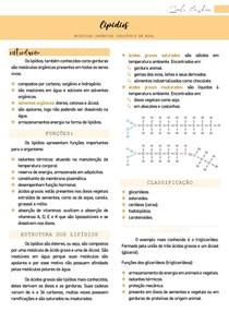 Lipídios (características, estrutura, funções e classificação) - Bioquímica