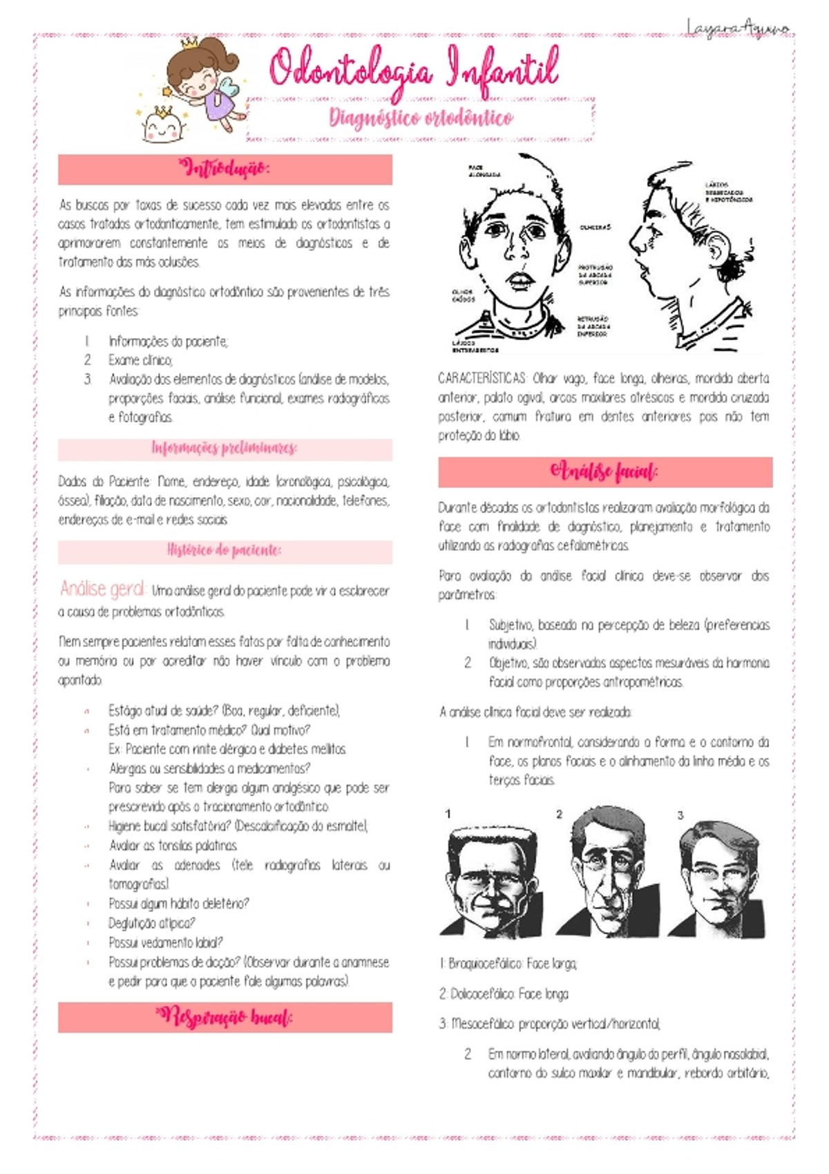 Pre-visualização do material Diagnóstico ortodôntico - página 1